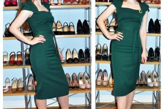 green-dress-and-shoes