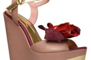 pink carvela wedges