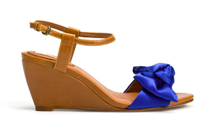 56a455173121 Zara low wedge shoes with fabric bows
