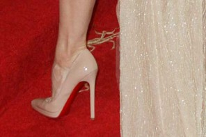 Renee Zellweger at the MET Gala in Christian Louboutin Pigalle Plato 120 pumps