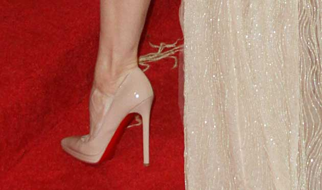 Celebrity Shoes Renee Zellweger At The Met Gala In Christian