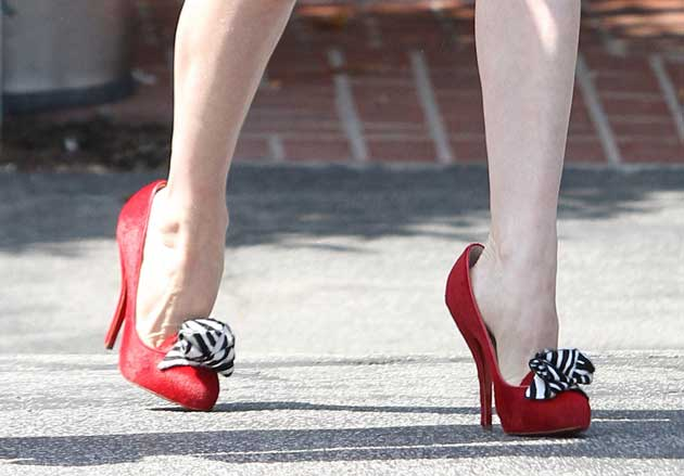 Celebrity Shoes Dita Von Teese In Christian Louboutin Shoeperwoman