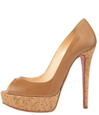 ce48bb06b667 Friday Night Louboutin Fix  Christian Louboutin  Banana  cork heeled pumps