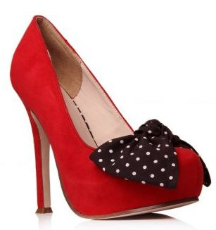 kurt geiger minnie pumps red polka dot