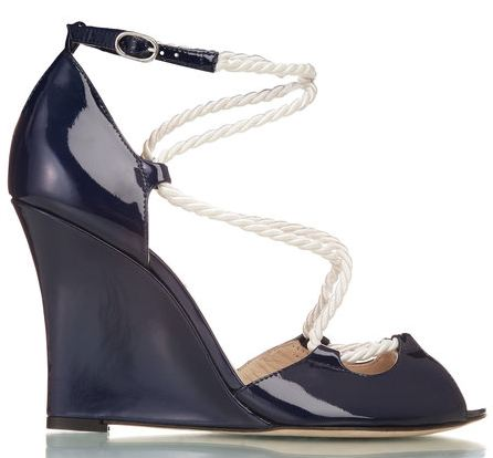 mirella nautical style navy wedges from lk