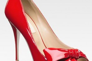 valentino red patent bow pumps