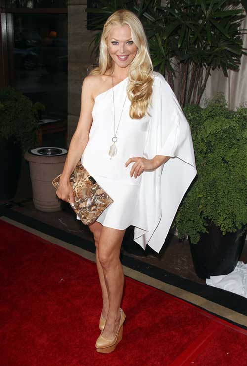 Charlotte Ross in Charlote Olympia Shoes