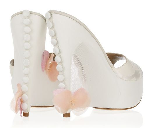bridal shoes Rosamosario Tulle
