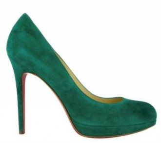 christian louboutin simple pumps green