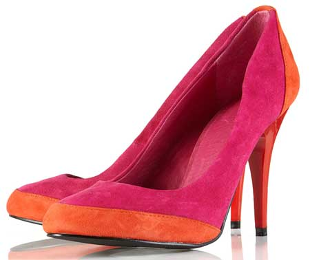 orange pointed shoes images