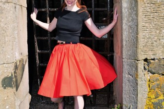 red-fifties-skirt