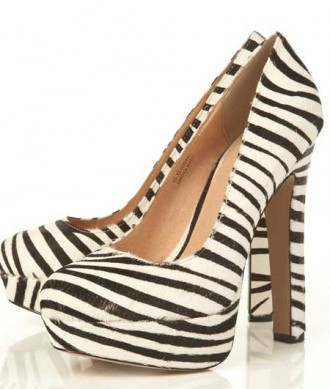 8bd1f40cf0c9 Zebra print shoes   Swagger  by Topshop