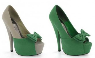 green-shoes-with-bow-peep-toes