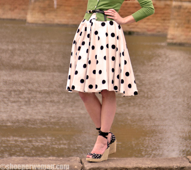 polka dot shoes and dress gt