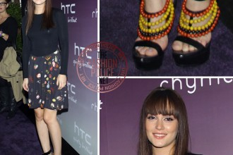 Leighton Meester in Burberry prorsum shoes