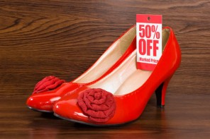 Red shoes on sale