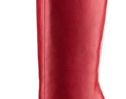 Christian Louboutin red knee high boots