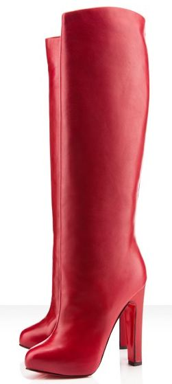 7765f723a9d Friday Fix: Christian Louboutin Vicky Botta 120mm red boots ...