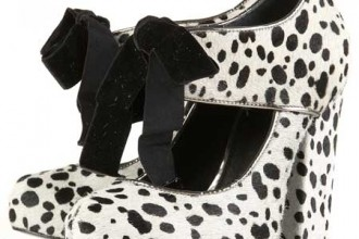 Dalmatian print Mary Jane shoes by Topshop Unique