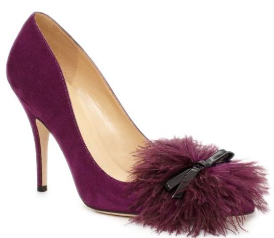Purple suede shoes by Kate Spade