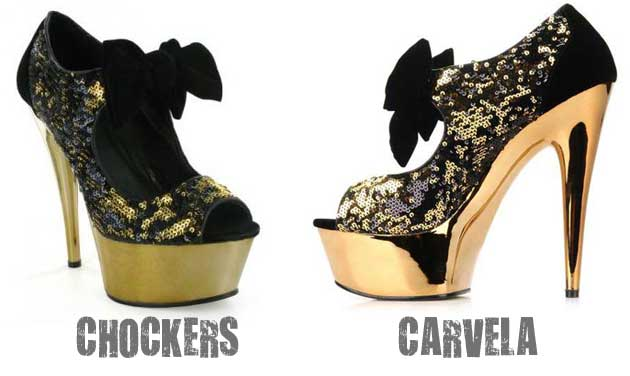 Carvela Glam Vs Chockers Dorothy