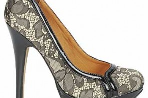 Lace platform shoes by Ravel
