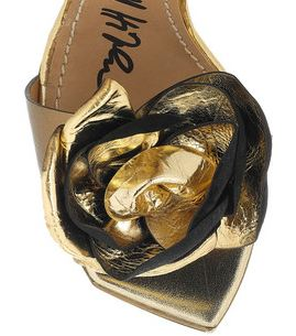 Flower on toe of Lanvin wedge shoes