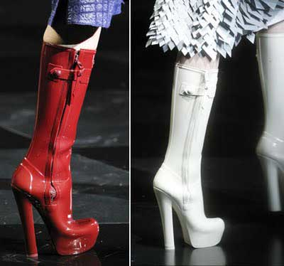 High heeled wellies by Louis Vuitton