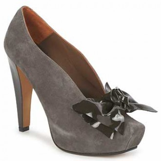 Paco Gil grey suede shoe boots with bow