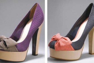 Platform shoes with bow by Love Label