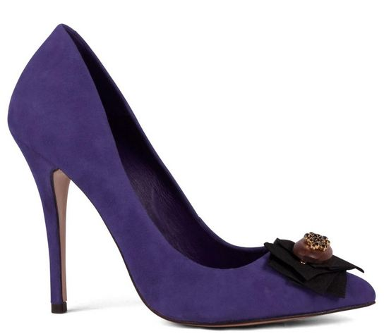 Purple shoes with pointed toe