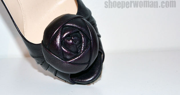 Prada peep toe with rosette