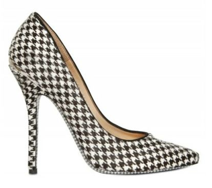 salvatore ferragamao houdstooth pumps