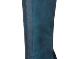 Teal knee length boots from Next