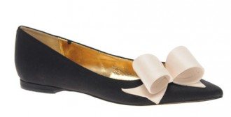 c28bbfea020d3 Ted Baker  Pleat  Flat Pointed Shoes With Oversized Bow