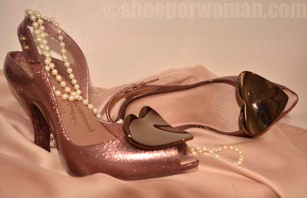 Vivienne Westwood x Melissa Lady Dragon heart shoes in pink
