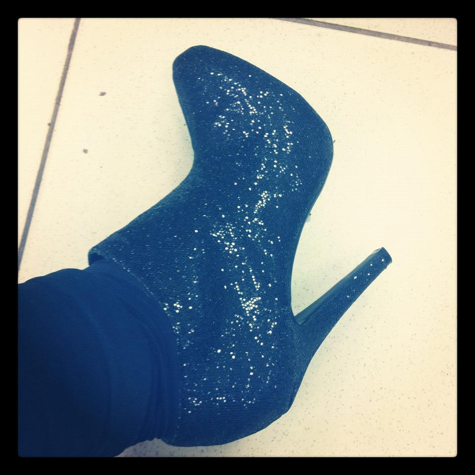 Sparkly ankle boots from New Look