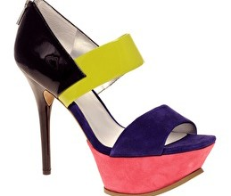 Colourblocked high heel shoes from ASOS
