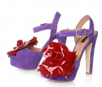 Purple flower sandals by Kurt Gieger