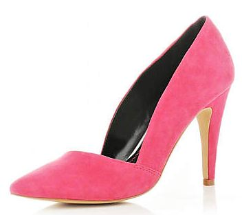 Pink asymmetric court shoes