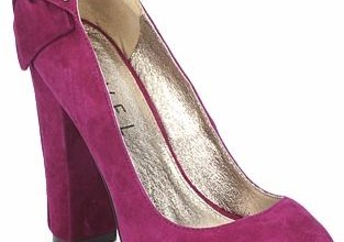 pink suede heels from Ravel