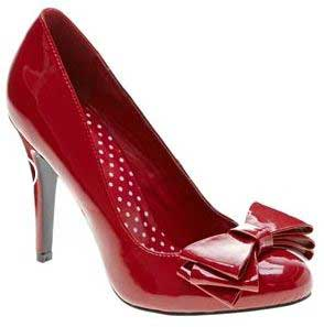 Red bow shoes from Next