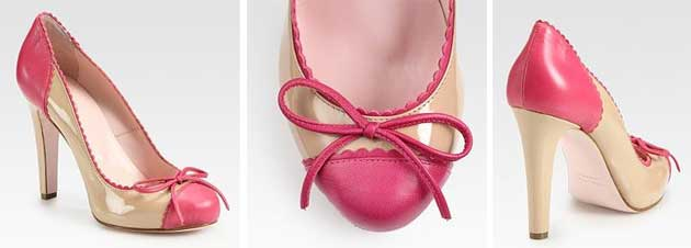 pink toecap pumps