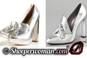 Silver shoes by Alexander Wang and Topshop