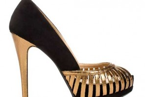 Black and gold shoes from Zara