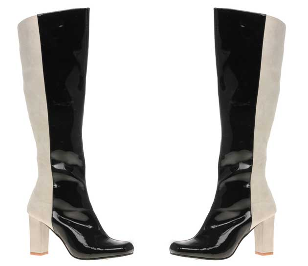 two tone 60s style boots