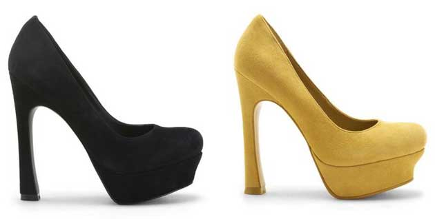 Black and yellow pumps by Kelsi Dagger