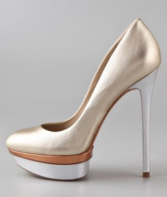 B Brian Atwood Metallic Platform Pumps free shipping low cost amazon sale online outlet 2014 unisex best place to buy shopping discounts online mPes44cU