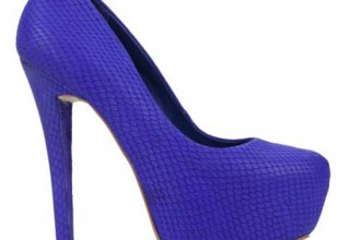 Blue platform shoes by Studio TMLS