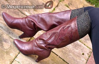 brown mid-calf boots